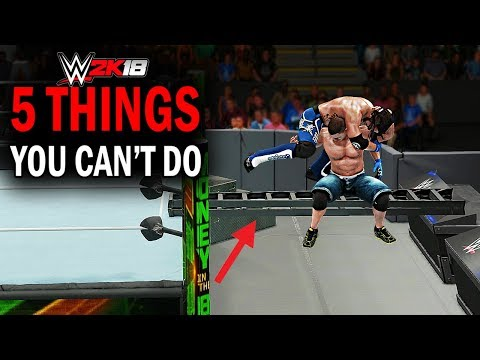 WWE 2K18 - 5 Things You Can't Do! #3 (Ladder Bridge AA, Barricade Suicide Dive, Extreme Spear &More)