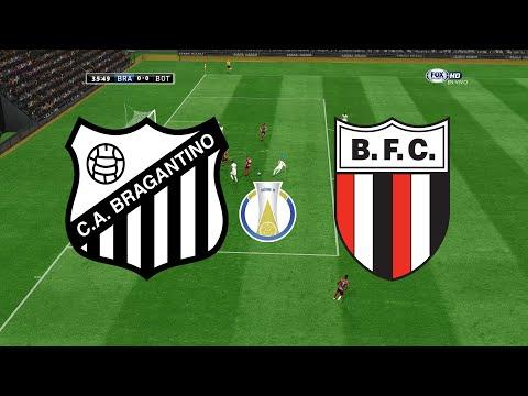 BRAGANTINO X BOTAFOGO-SP - BRASILEIRÃO SÉRIE B 2019 - 15ª RODADA - 09/08/2019 - PES 2017