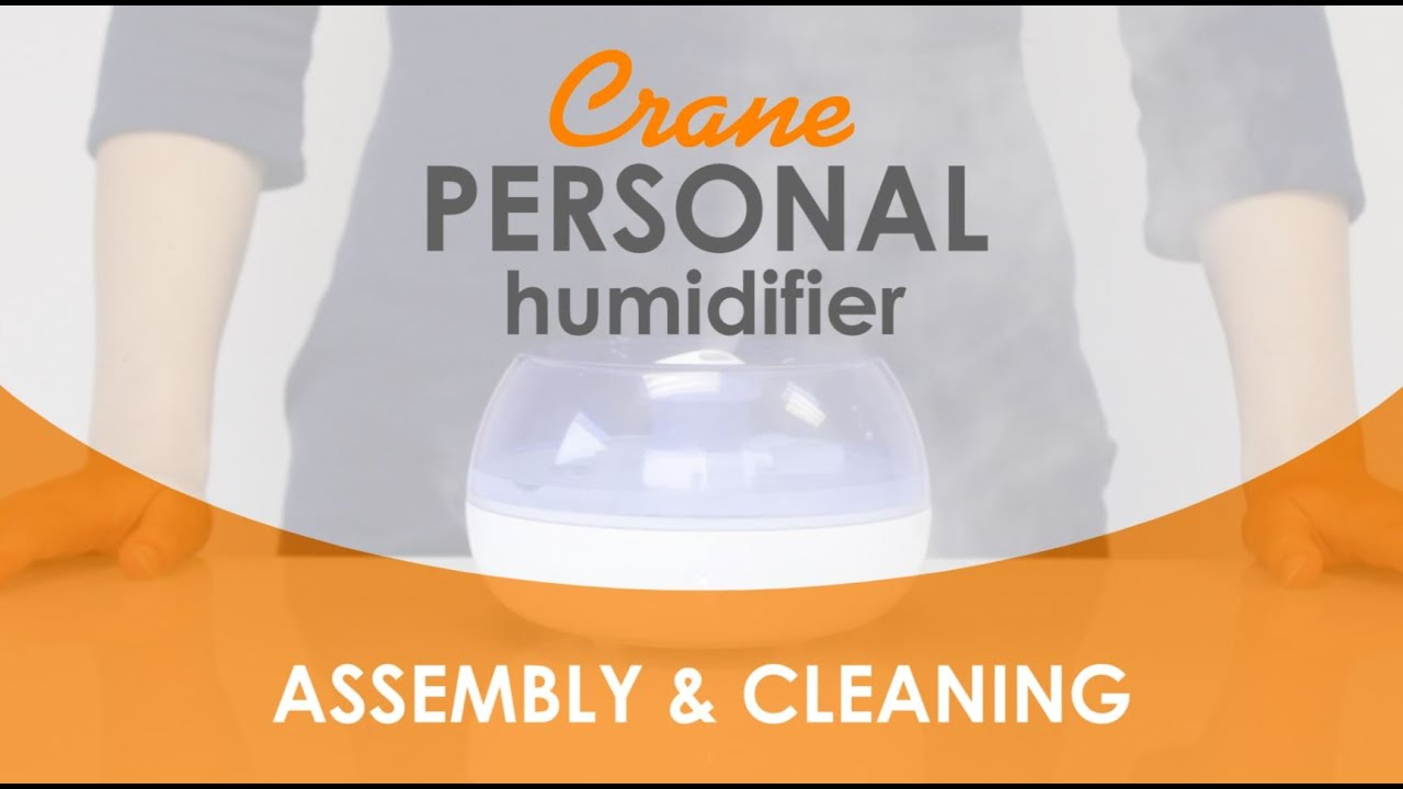 Crane Personal Humidifier 5951 Assembly Cleaning Youtube