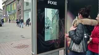 Meet the Axe Angel via AR bus shelter | BigBoard JCDecaux Russia