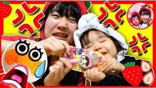 いちごママとこはるちゃんがケンカ!?お菓子を勝手に食べているのは誰だ!? アンパンマン おもちゃ いたずら赤ちゃん お菓子 アンパンマングミ ペロペロチョコ 仲直り ママコラボ#02 thumbnail
