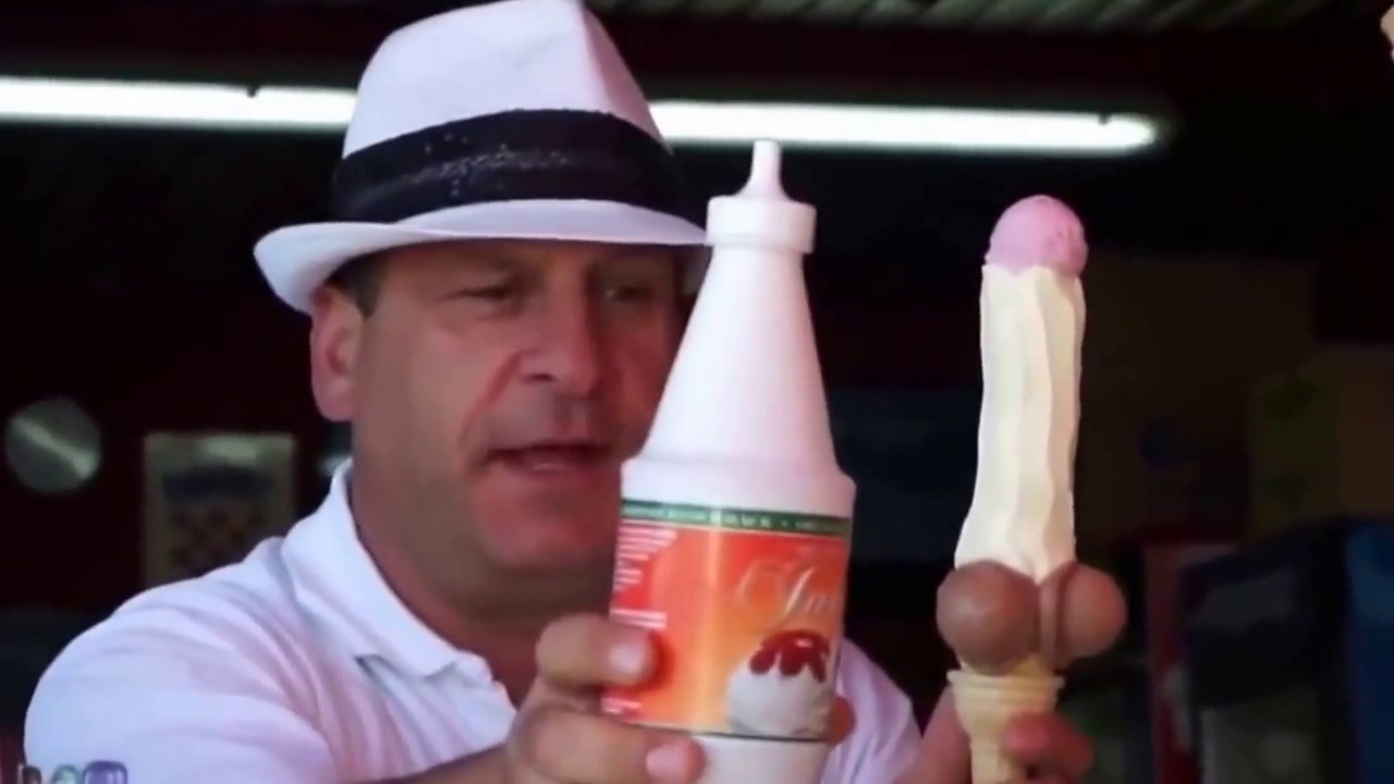 Hot Blonde Muscle Boy Gives Stepdad An Ice Cream Blowjob
