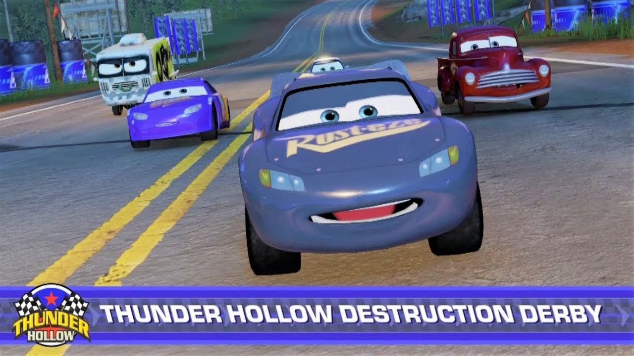 Cars 3 driven to win thunder hollow destruction derby gameplay hd youtube - Coloriage cars 3 thunder hollow ...