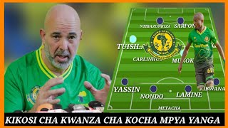 Kocha mpya wa Yanga Nasreddine Nabi Mtunis atangaza Kikosi chake cha kwanza na Mfumo Mpya ( 4-1-3-2)