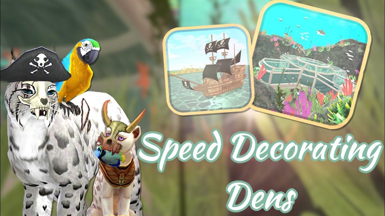 WildCraft- Speed Decorating Dens #2 ( Pirate Ship & Underwater Den) + #TTL20K WINNERS