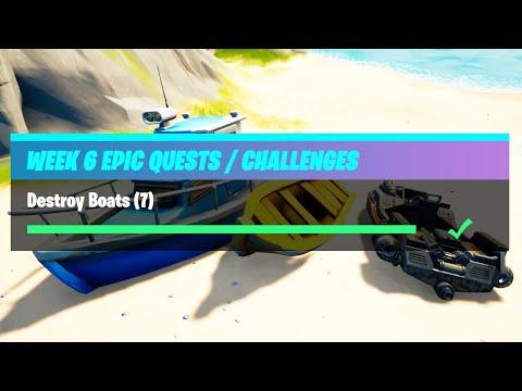 Destroy Boats (7) - Fortnite Week 6 Challenges