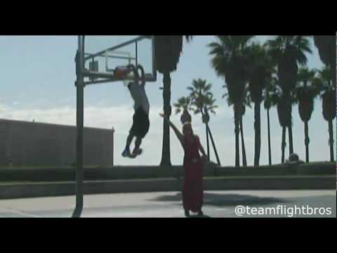 "TFB::Dunks:: New 5'9"" TDub Venice Beach Dunk Mix - Blake Griffin's car Dunk is TOO EASY!"