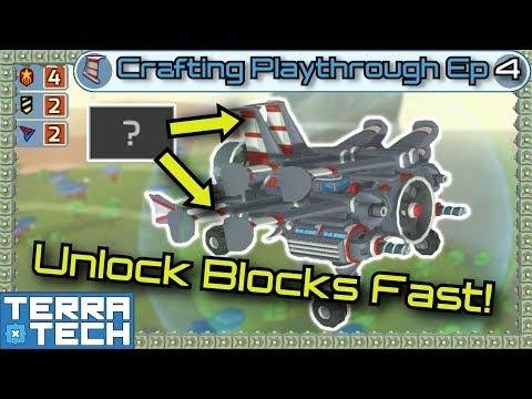 TerraTech - Crafting Ep4 - Unlock Blocks Fast! [0.8.1.1]