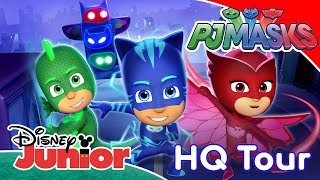 PJ Masks | Welcome To PJ Masks HQ! ✨ | Disney Junior UK