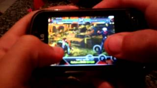 THE KING OF FIGHTERS GAME PLAY NO LG P350
