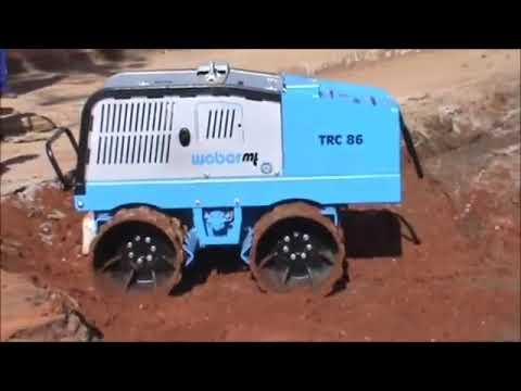 Виброкаток Траншейный WEBER TRC86 Тест. Строительное Оборудование.