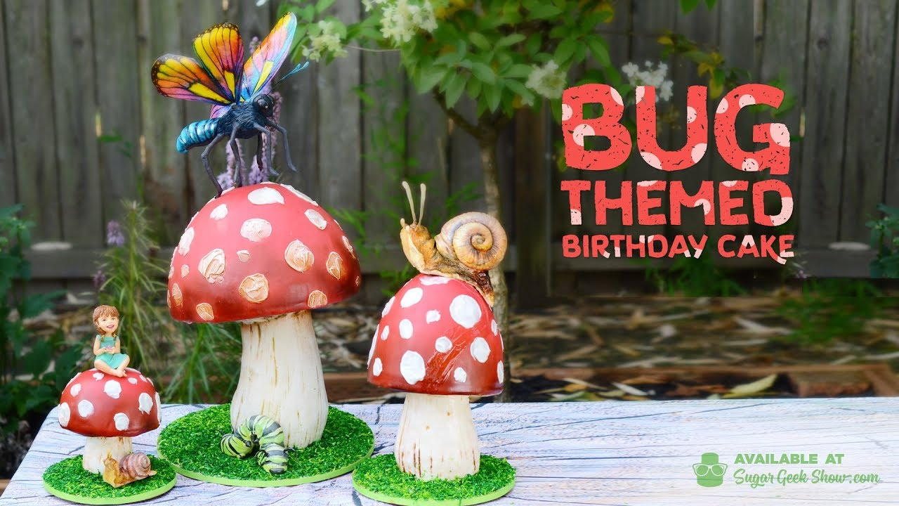 Bug Themed Birthday Cake Tutorial Youtube