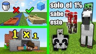 10 Cosas Increíbles que Puedes hacer en Minecraft y NO Sabías (PARTE 2)