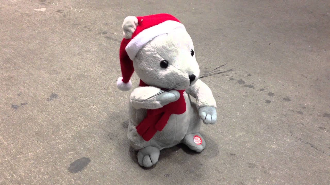 santa mouse its christmas time song singing animated ...