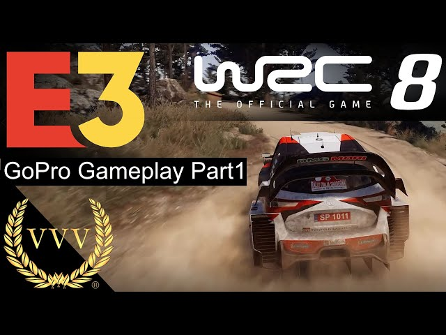 WRC 8 GoPro Triple Screen Gameplay Part 1 - E3 2019