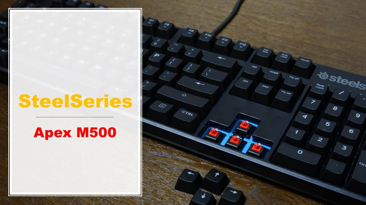 8bbcb6214af SteelSeries APEX M500 [Cherry MX RED] Unboxing & Mini Review - YouTube
