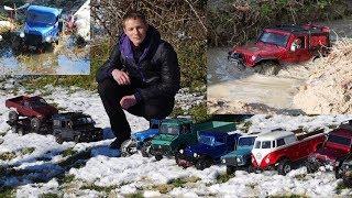 Сочи зима.  Внедорожники 4х4 по бездорожью и грязи, радиоуправляемые машины  Трофи RC CAR  Дед Вадим