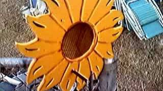 How To Build A Sun Flower Bird Feeder