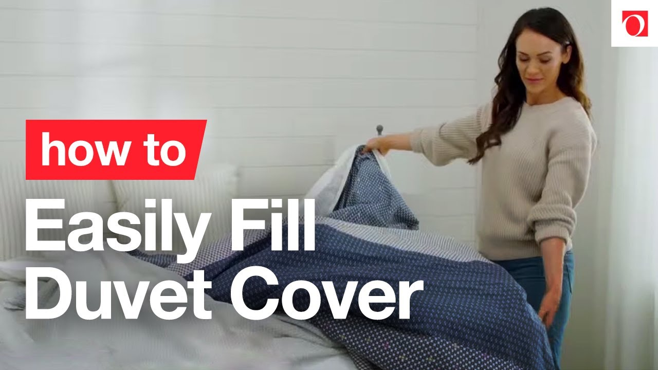 Try This Easy Way How to Fill Duvet Cover   Overstock.  YouTube