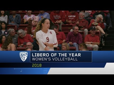 Stanford's Morgan Hentz nabs her second consecutive Pac-12 Women's Volleyball Libero of the Year...