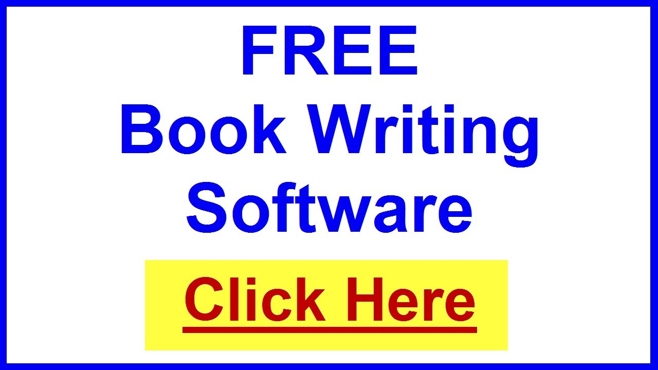 book writing software    templates 100  free to write a