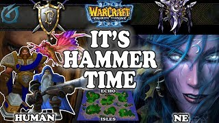 Grubby | Warcraft 3 TFT | 1.29 | HU v NE on Echo Isles - It's Hammer Time!
