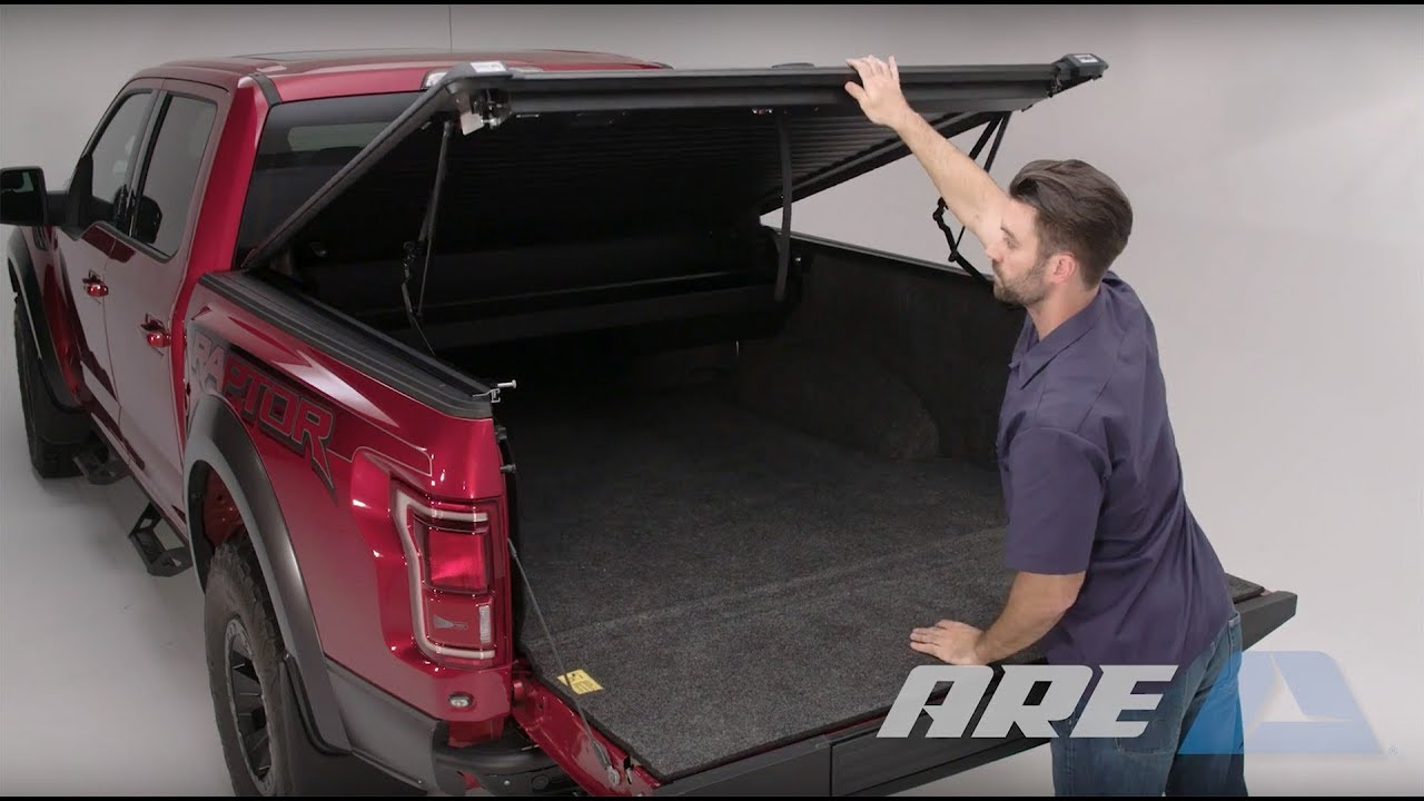 Doublecover Installation Bolt On Install Of Unique A R E Truck Bed Cover That Lifts And Retracts Youtube