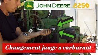 Changement jauge a carburant john deere 2250