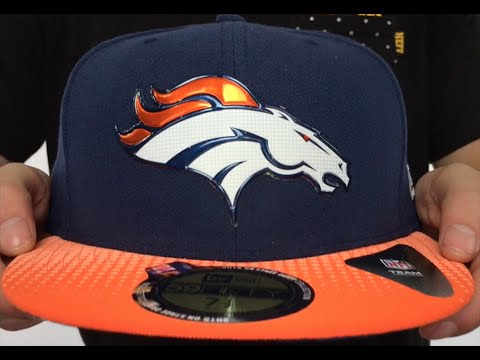 Broncos  2015 NFL DRAFT  Navy-Orange Fitted Hat by New Era - YouTube 63305738f04