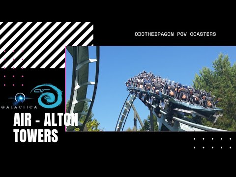 Air Alton Towers On Ride POV Roller coaster before the galactica upgrade,