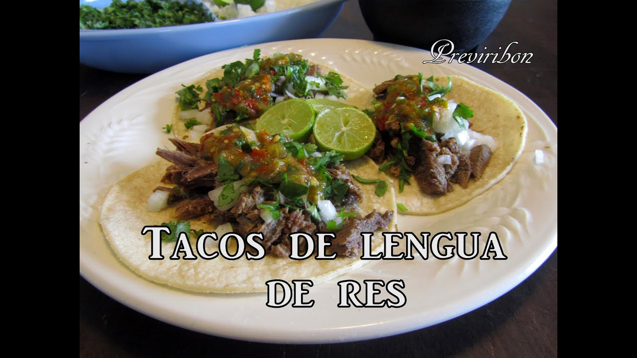 Tacos de Lengua de Res *video 172* - YouTube