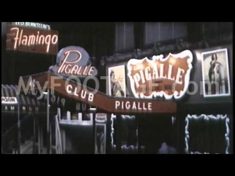 Stock Footage - 1950's Broadway, Theater District, Manhattan at Night