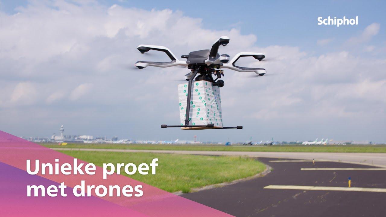 Unieke proef met drones op Schiphol