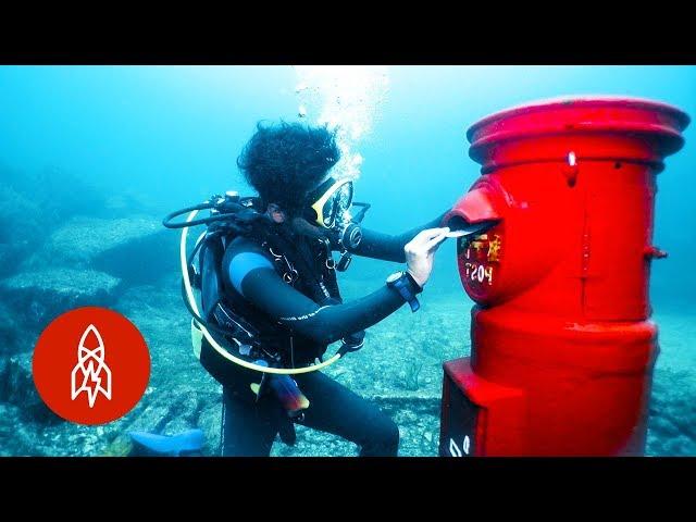 El correo postal llega a todas partes... incluso al fondo del mar