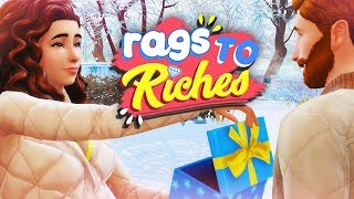 MAKEOVERS + WINTERFEST 🎁❄️ // The Sims 4: Rags To Riches #20
