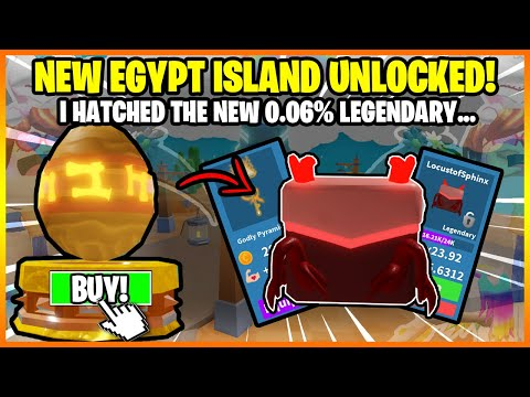 Pickaxe Simulator *NEW* EGYPT UPDATE! I hatched the NEW 0.06% LEGENDARY FROM NEW WORLD! NEW CODES!