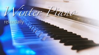 Relaxing Winter Piano Music 24/7: ICE PIANO - Winter Music, Christmas Music