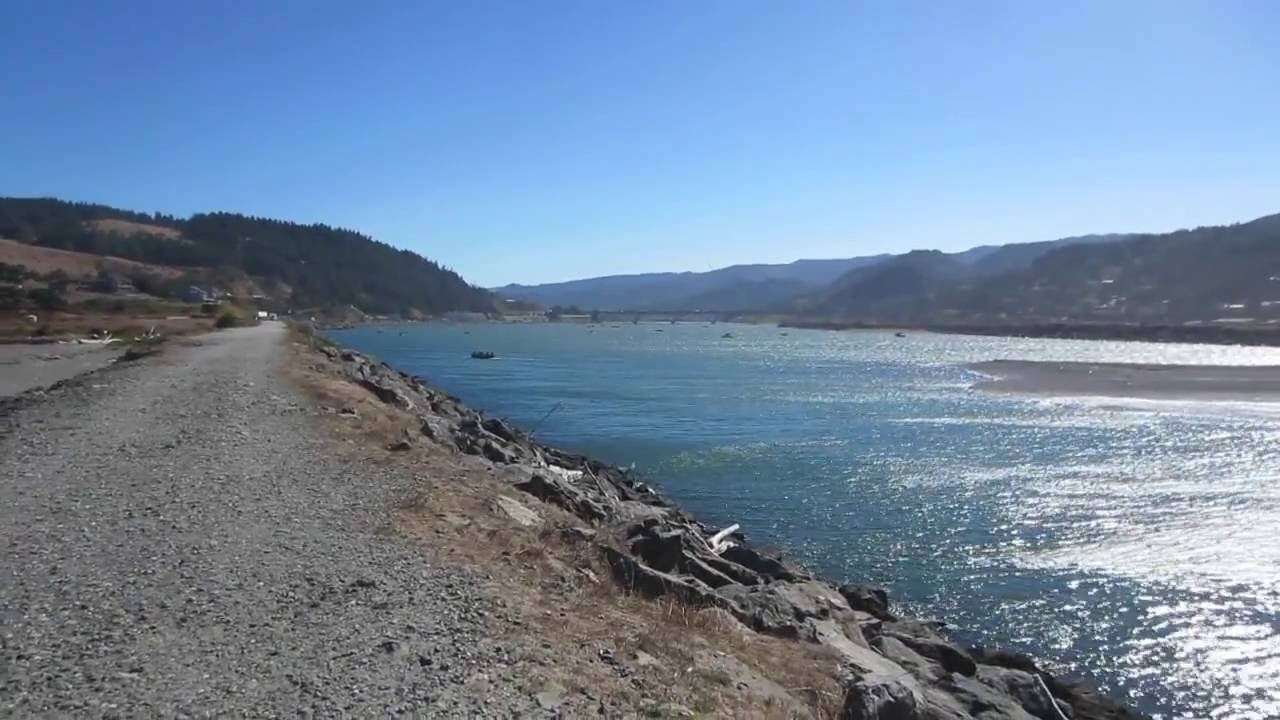 Rogue River Inlet At Gold Beach Oregon
