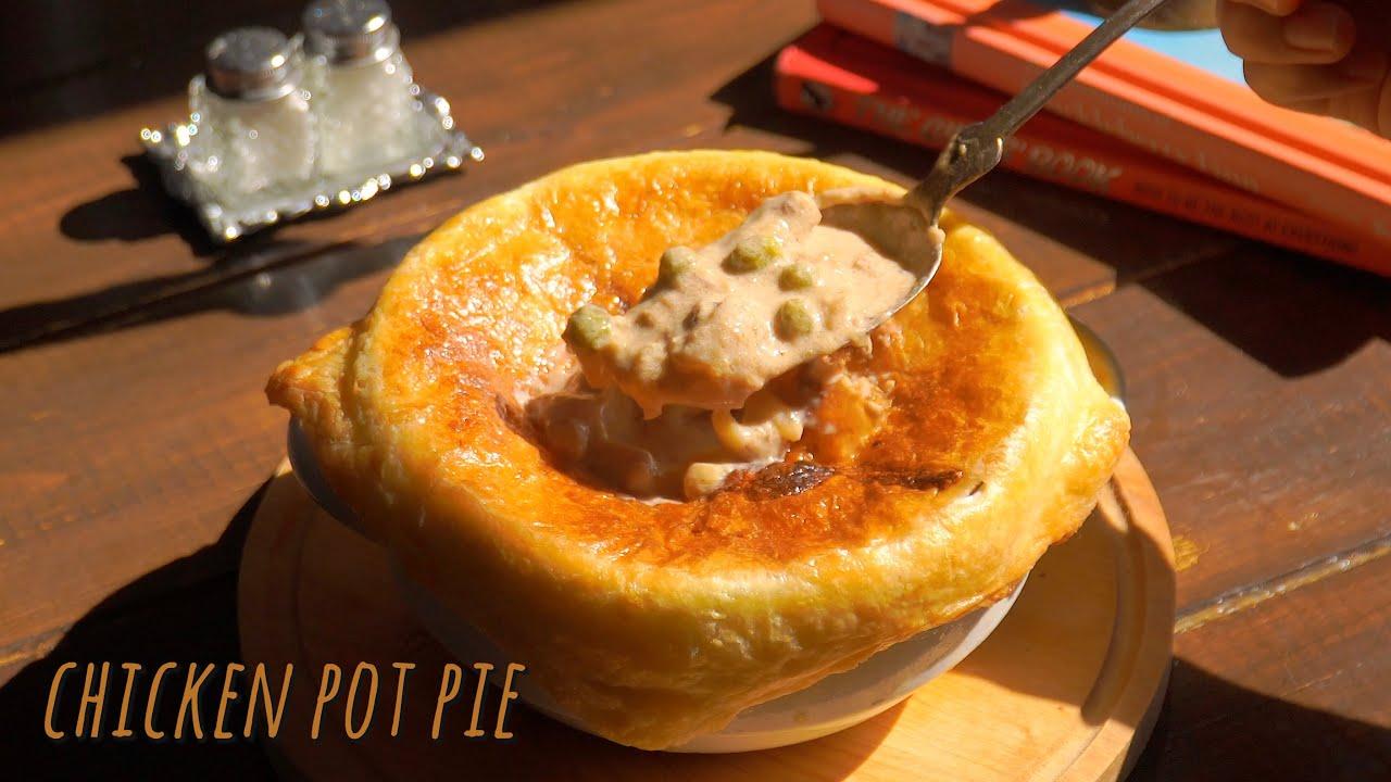 바삭한 파이 속 따듯한 치킨 스프, 밤 넣은 치킨 팟 파이 chicken pot pie with chestnut