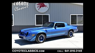 Nearly 100% Original 1981 Z28 for Sale at Coyote Classics