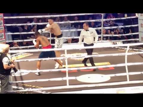 Patryk Szymański stops  Robson Assis, 2 rd, Poznań, Poland #boxing