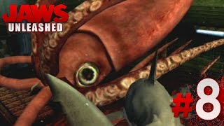 GIANT SQUID!! - Jaws Unleashed - Gameplay Mission 8 (PS2) || HD