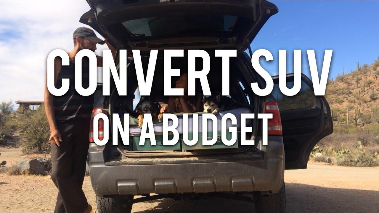 Super Cheap SUV Car Camping Conversion for Just $20 ! | Ford Escape Camper  Build