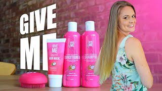 GiveMe Cosmetics NEW Coconut And Argon Oil Shampoo, Conditioner and Hair Mask Review