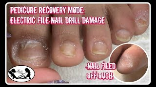 👣 Pedicure Tutorial Nail Drill Damage Recovery and Foot Massage + Giveaway 👣