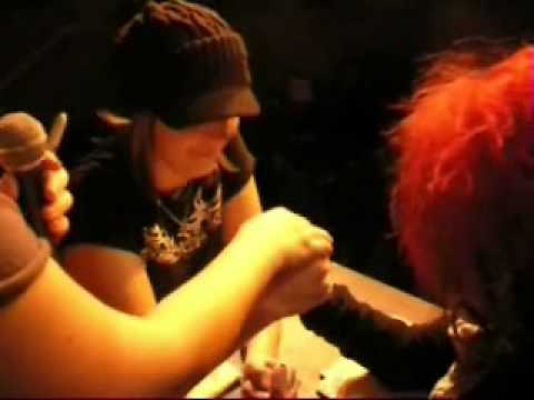 The Chicago Outfit Roller Derby Team & Friends Arm Wrestling  Dec. 08, 2008 Part 3