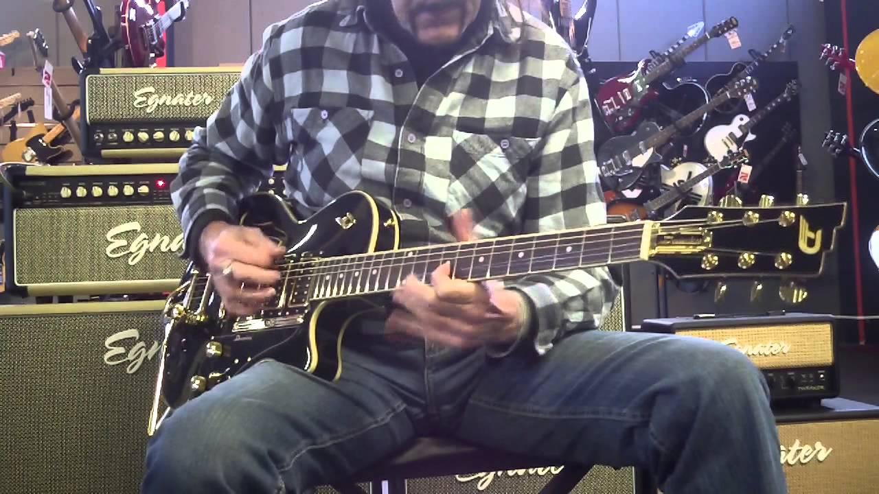 Duesenberg Starplayer Tv Custom Black Amp Gold At Guitar