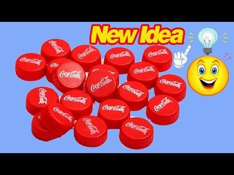 Plastic bottle  cap craft idea   Best out of waste   Plastic bottle cap reuse idea