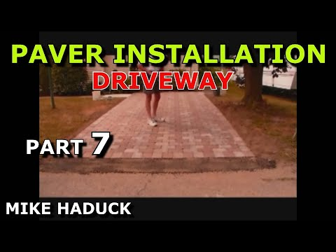 How I Install A Paver Driveway Mike Haduck Youtube