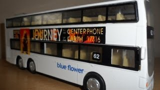 MY HTI DICKIE TOYS DOUBLE DECKER BUS BLUE FLOWER